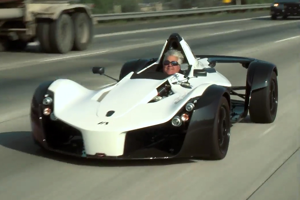 Jay Leno Test-Drives Street Legal Formula 1 BAC Mono