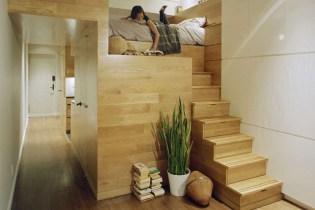 Jordan Parnass Digital Architecture Designs a Creative Loft Solution for a Small New York Apartment