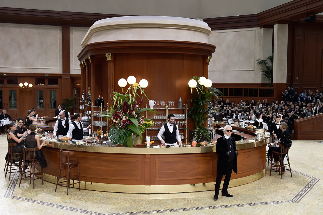 Karl Lagerfeld Transforms the Grand Palais Into a Parisian Brasserie for Chanel's 2015 Fall/Winter Runway Show