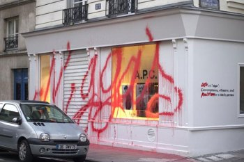 Kidult Vandalizes the A.P.C. Paris Store with the N-Word