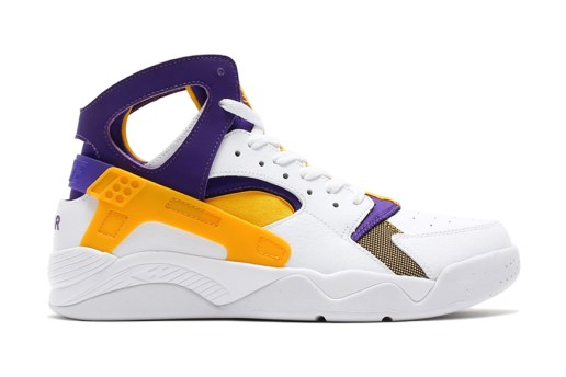 Nike Air Flight Huarache White/University Gold-Court Purple