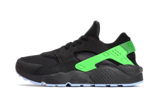 Nike Air Huarache Run FB Black/Poison Green