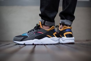 Nike Air Huarache Run SD Black/Persian Violet-True Yellow