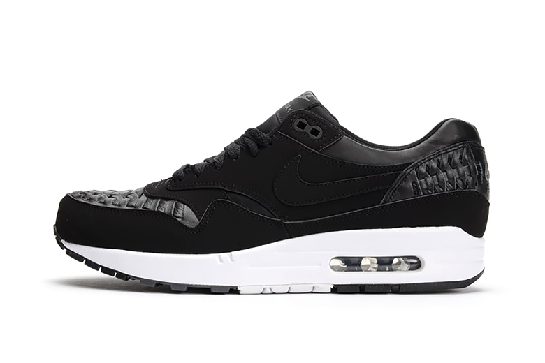 Nike Air Max 1 Woven Black/Dark Grey