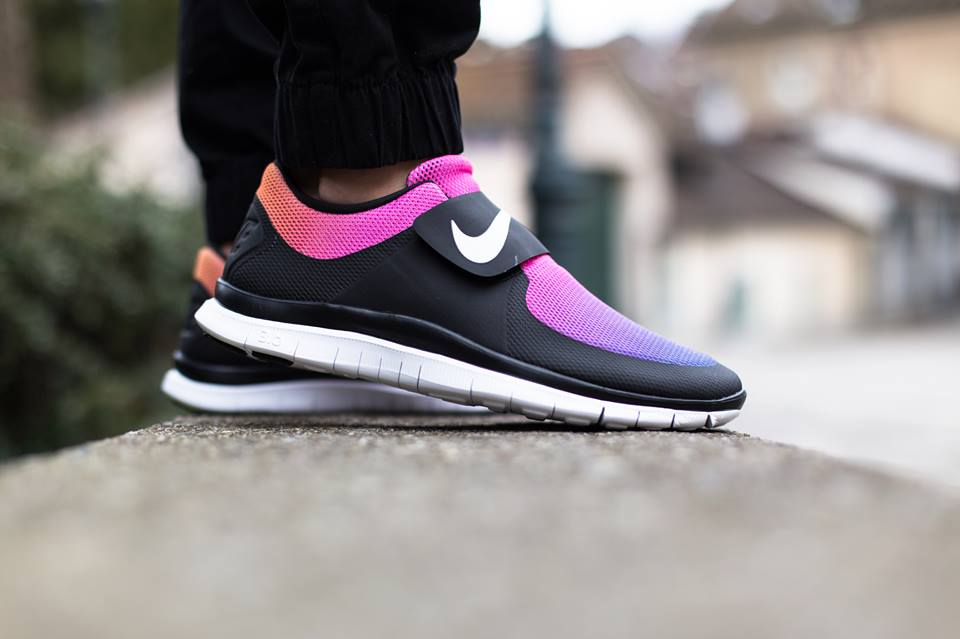 Nike Free Socfly SD Black/White-Pink Flash-True Yellow