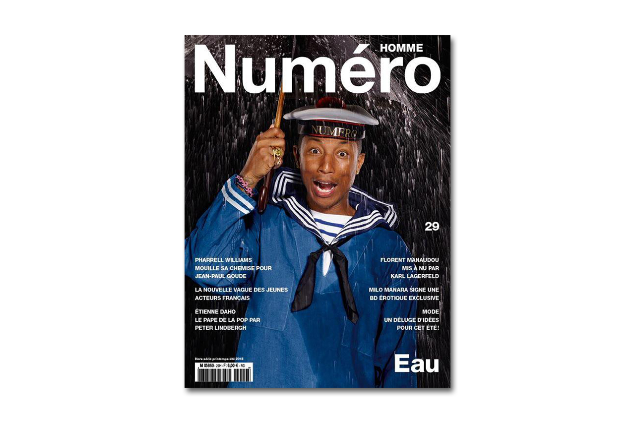Pharrell for 'Numéro' Magazine by Jean-Paul Goude