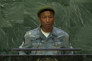 Pharrell Williams Celebrates International Day of Happiness at United Nations