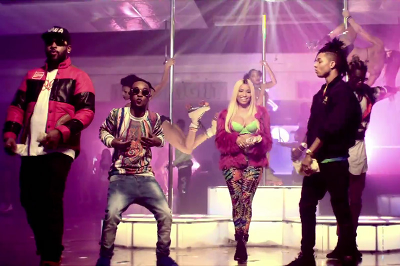 "Rae Sremmurd featuring Nicki Minaj & Young Thug ""Throw Sum Mo"" Music Video"