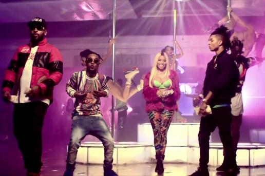 "Rae Sremmurd featuring Nicki Minaj & Young Thug ""Throw Sum Mo"" Music Video"