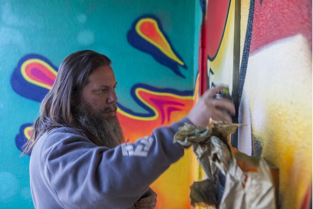 RISK Paints Mural at Sylvester Stallone's Former Santa Monica Studio