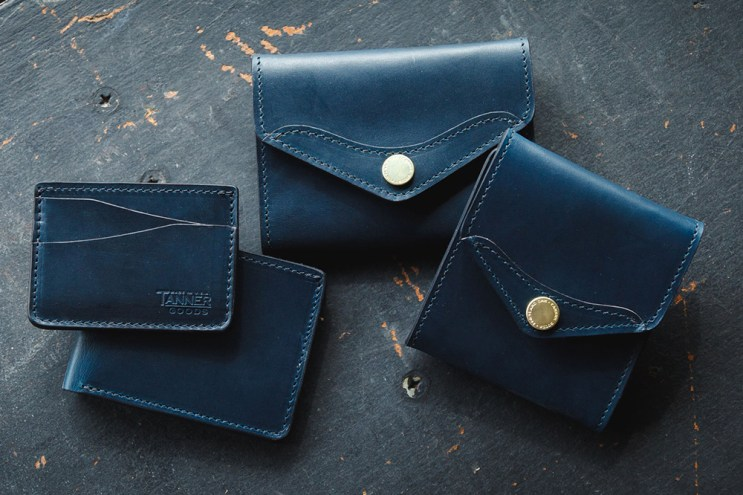 Tanner Goods Limited Edition Indigo Wallet Series