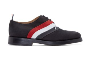 Thom Browne Black Nubuck Tricolore Derby Shoes