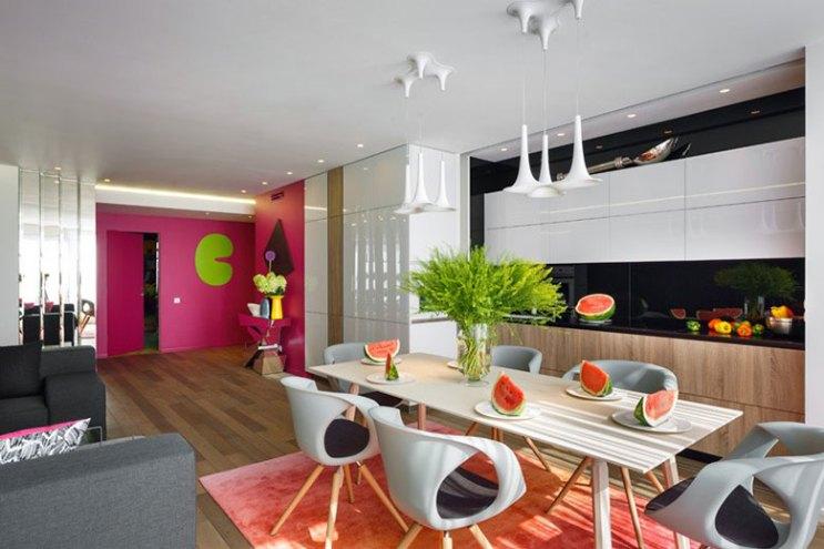 Take a Look at This Beautifully Colorful Russian Apartment by Elena Chernigina and Anton Bazaliysky