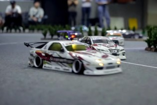 RC Cars Drift Around Yokohama's WARU Circuit