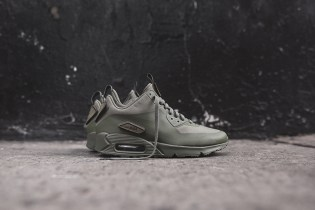 "Nike Air Max 90 Sneakerboot SP Patch ""Steel Green"""