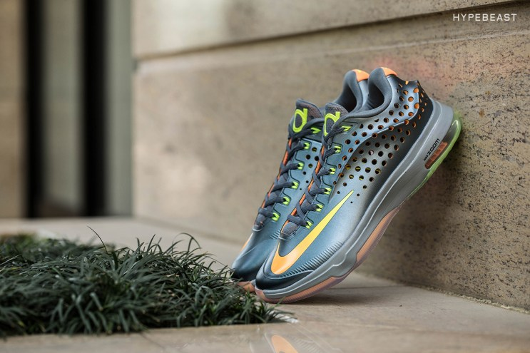 A Closer Look at the Nike KD7 Elite Blue Graphite/Bright Citrus