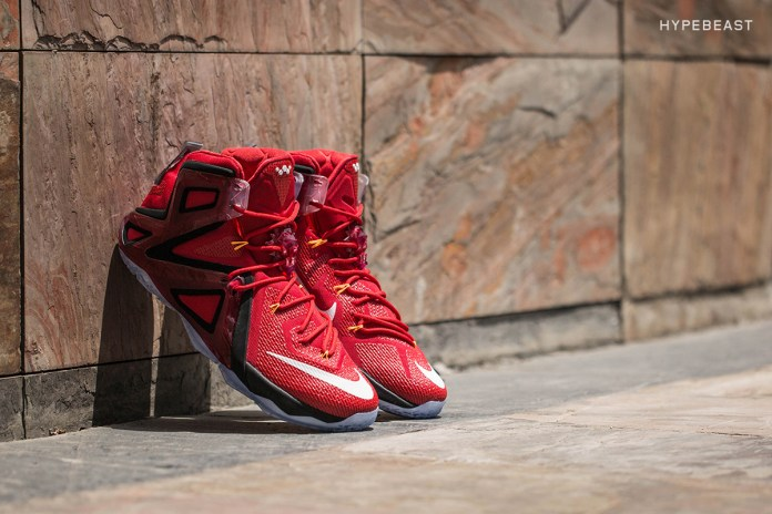 "A Closer Look at the Nike LeBron 12 Elite ""University Red"""