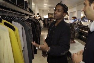 A$AP Rocky Goes Shopping With Complex