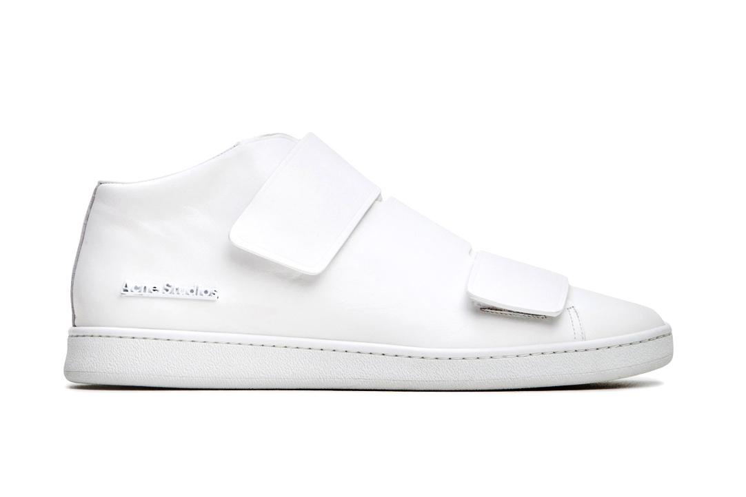 "Acne Studios Mid-Top ""Triple White"" Sneaker"