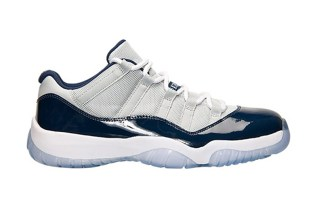 "A First Look at the Air Jordan 11 Retro Low ""Georgetown"""