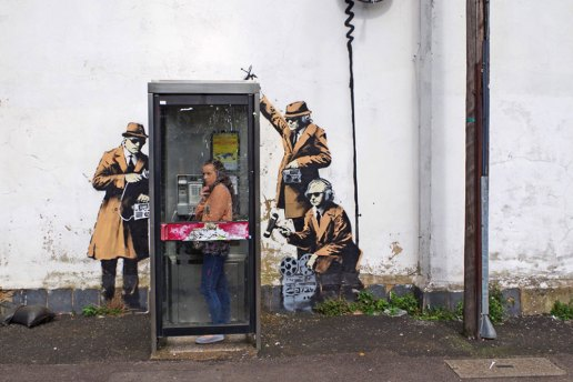 Banksy's 'Spy Booth' Receives Grade II Property Status