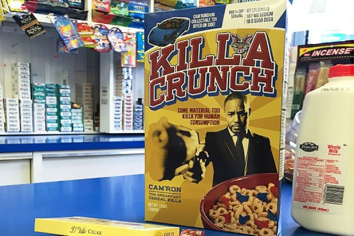 "Cam'ron Releases ""Killa Crunch"" Cereal Boxes With $100 USD and Limited Edition T-Shirt Inside"