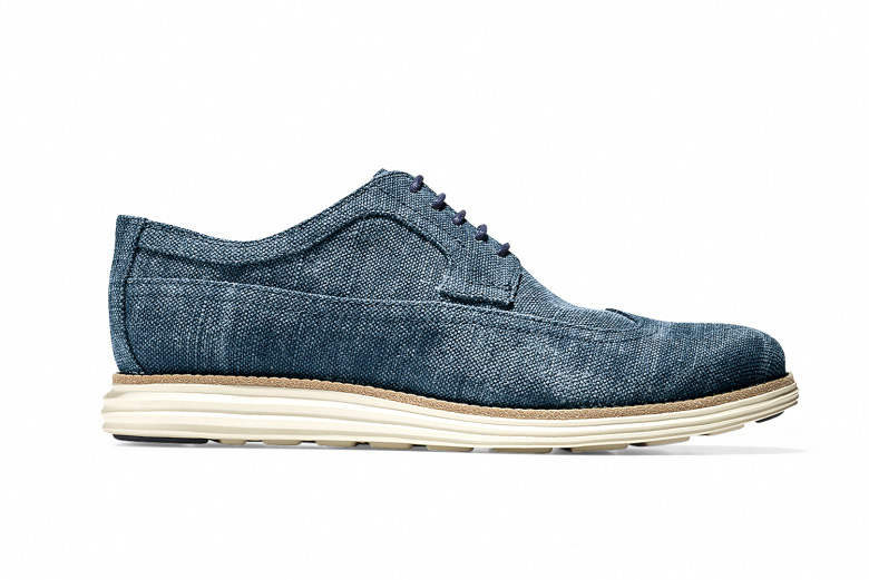 Cole Haan 2015 Spring/Summer LunarGrand Long Wingtip Canvas Collection