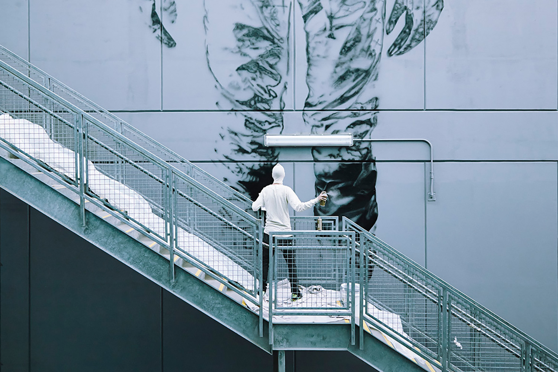 "CYRCLE. ""NOTHING EXISTS"" Mural in Playa Vista, Los Angeles"