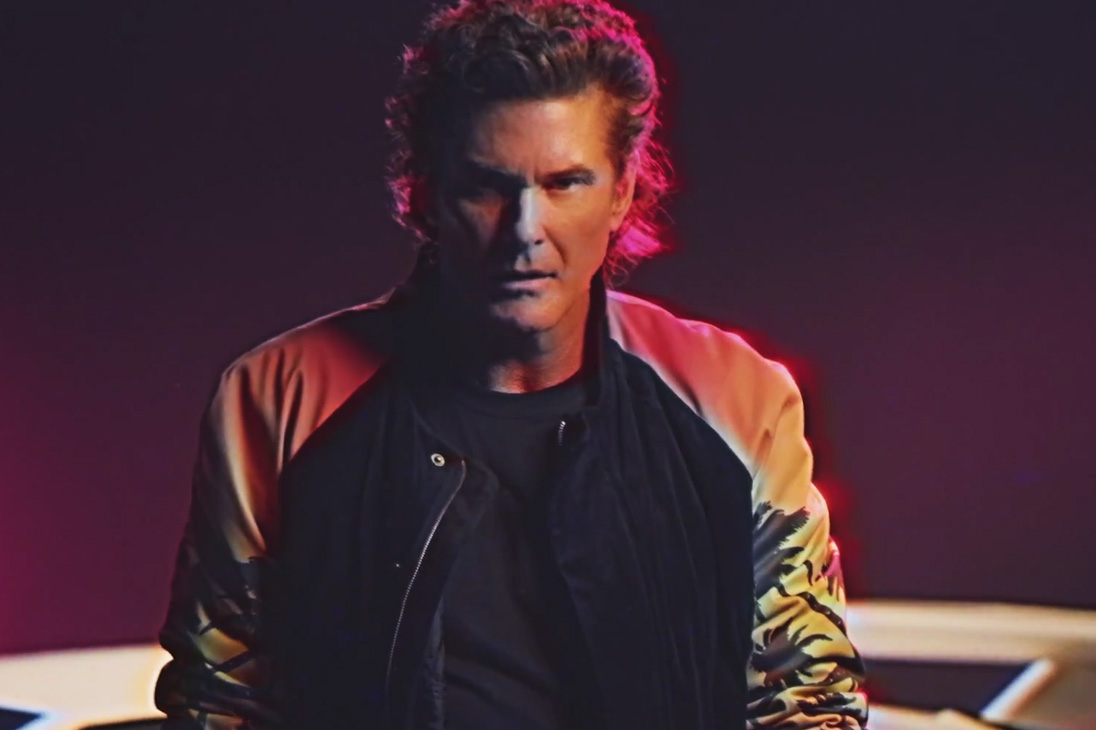 "David Hasselhoff ""True Survivor"" Music Video Features Ninjas, Lambos, Dinosaurs and More"