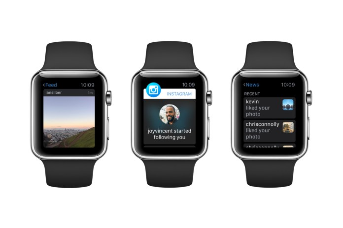 Instagram Reimagines Its User Experience for the Apple Watch
