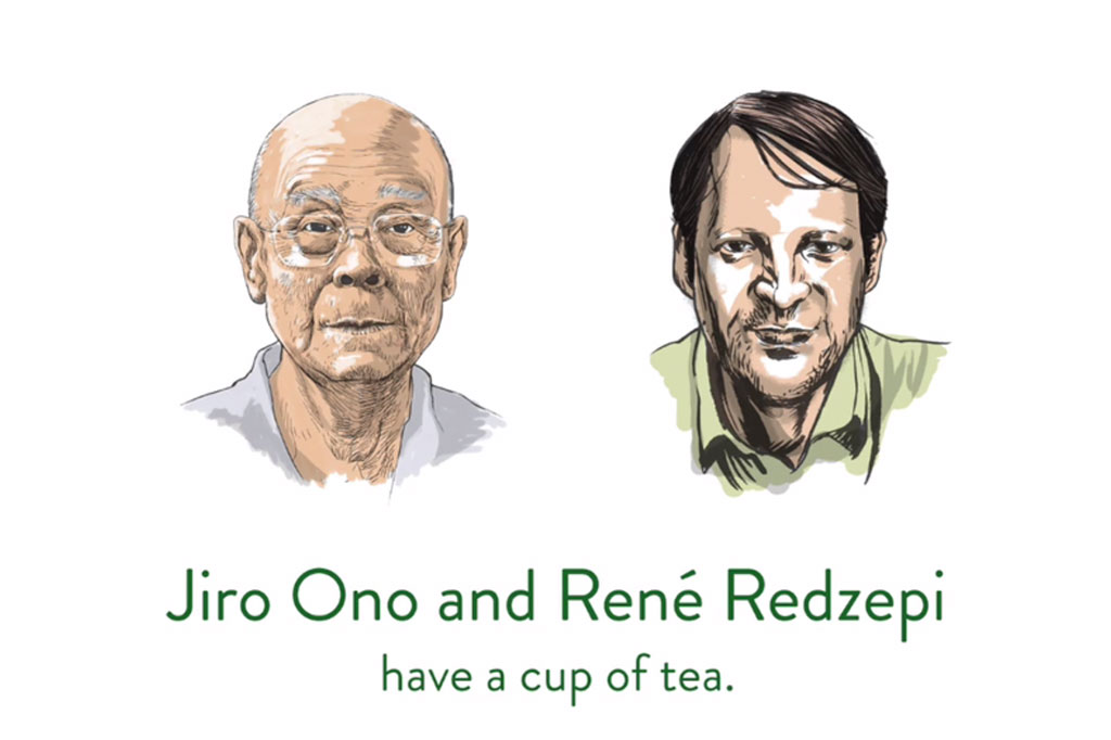 "Jiro Ono of ""Jiro Dreams of Sushi"" in His Last Interview With René Redzepi of Copenhagen's Noma"