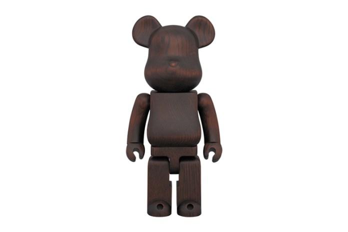 karimoku x Medicom Toy Bearbrick Rosewood Paint 400%