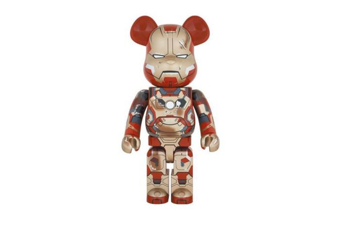 "Marvel x Medicom Toy Iron Man Mark XLII ""Damage"" 1000% Bearbrick"
