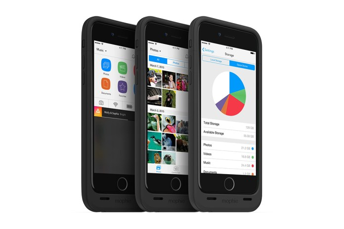 mophie's iPhone 6 Space Pack Offers Up to 128GB of Additional Storage