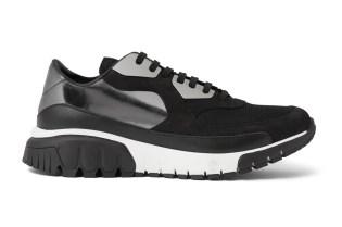 Neil Barrett Trekrun Suede Leather and Metal Sneakers