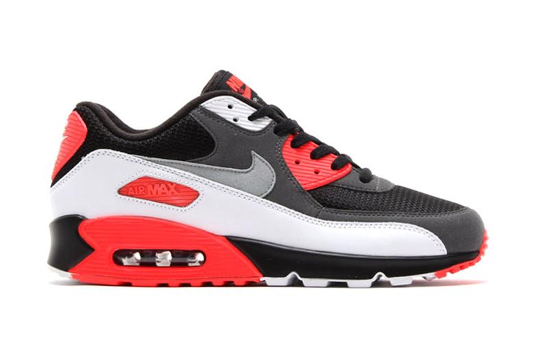 air max 90 black red white grey