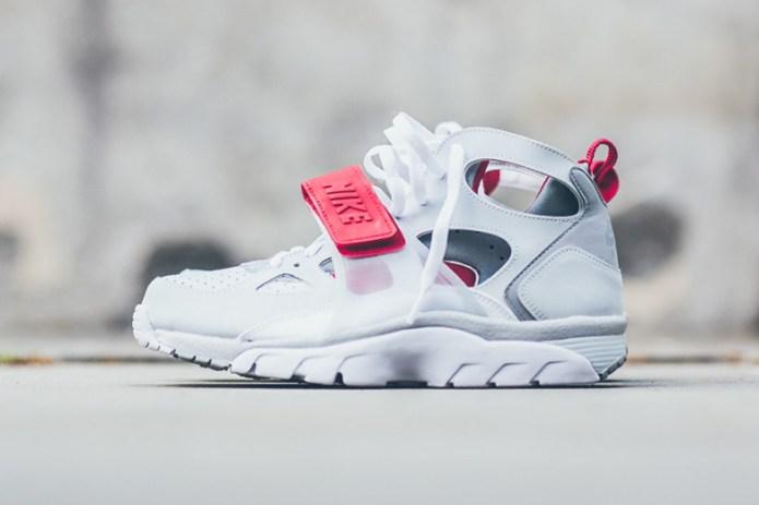 Nike Air Trainer Huarache Pure White/Wolf Grey-University Red