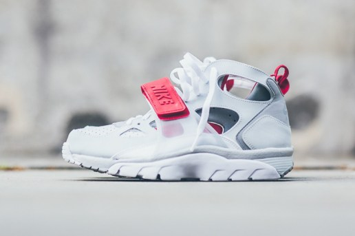 Nike Air Trainer Huarache Pure White/Wolf Grey-University Red