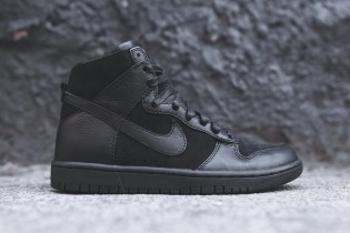 "Nike Dunk Lux High Sherpa ""Triple Black"""