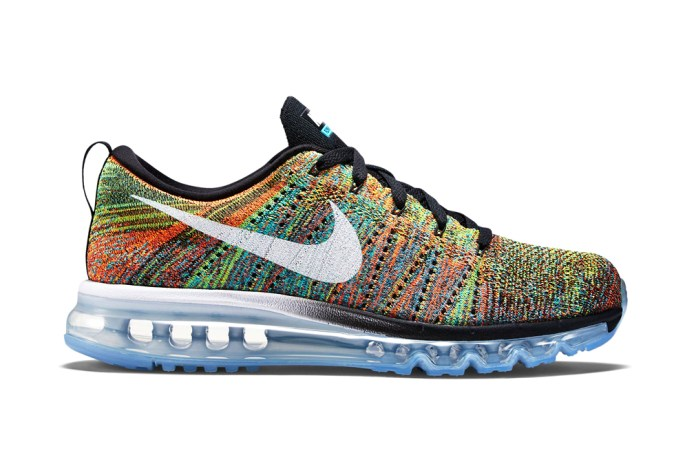 Nike Flyknit Air Max Black/Chlorine Blue-Total Orange-White