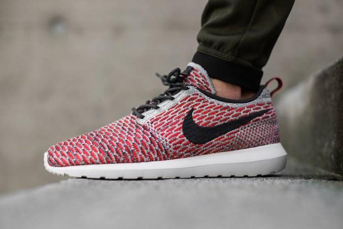 Nike Flyknit Roshe Bright Crimson/Anthracite
