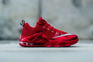 "Nike LeBron 12 Low Premium ""University Red"""