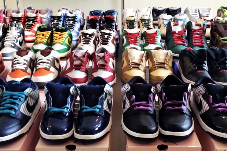 """The Entire Nike SB """"What The Dunk"""" Collection is Available on eBay for $100k USD"""