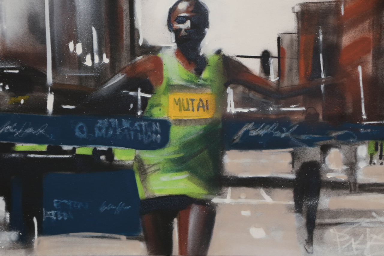 Percy Fortini-Wright and adidas Reimagine Iconic Moments in Boston Marathon History Through Art