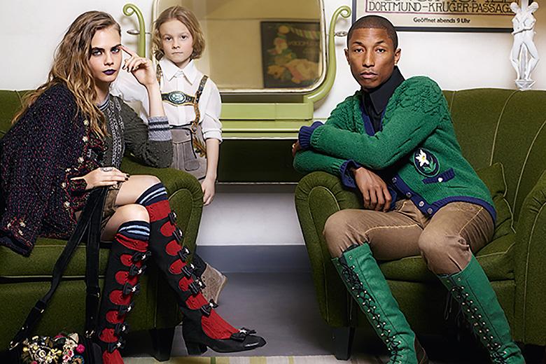 Pharrell, Cara Delevingne & Karl Lagerfeld's Godson Star in Chanel's 2015 Paris-Salzburg Campaign