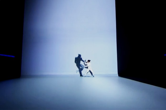 Projection-Mapped Choreographed Kung-Fu Fight Between Man and His Shadow