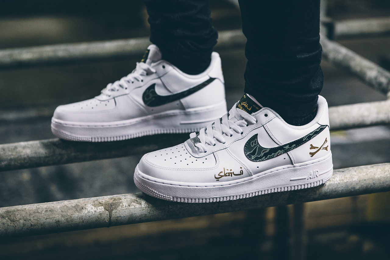 "SBTG for HYPEBEAST Nike Air Force 1 ""AWOL Camo"" Part 2"