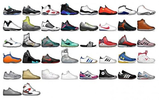 """Shoemoji"" Sneaker Emojis Featured in Foot Locker's New App"