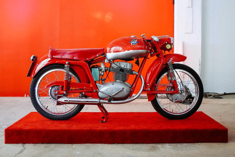 """Stuart Parr's """"Art of the Italian Two Wheel"""" Vintage Motorcycle Exhibit in NYC"""