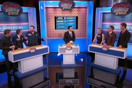 The Cast of 'Avengers' Plays Family Feud on 'Jimmy Kimmel Live!'